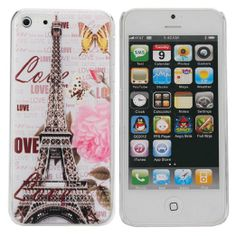 Amazon.com: Classicstyle Paris Eiffel Tower and Map Doodle Design Series Hard (transparent) Plastic Back Case Cover for Iphone 5C.: Cell Pho...