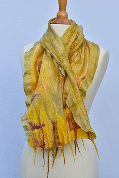 Hey, I found this really awesome Etsy listing at https://www.etsy.com/listing/198296243/nuno-felted-scarf-merino-wool-mulberry
