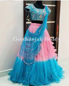 Half Saree Designs, Fancy Blouse Designs, Bridal Blouse Designs, Stylish Dress Designs, Stylish Dresses, Girls Frock Design, Long Dress Design, Lehenga Saree Design, Lehenga Designs
