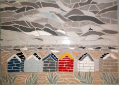 Such a lovely mosaic beach hut design! It makes me long for summer in Italy. (There are beach huts there, too!)