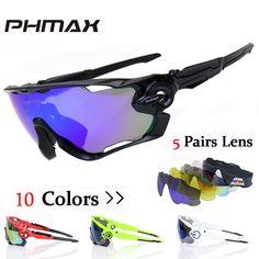 5f2fc3edd65eb Comprar PHMAX Polarized Ciclismo Óculos de Mountain Bike Óculos 5 Lens  UV400 Ciclismo Óculos Bicicleta óculos