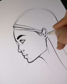 Drawing Tips Nature Eye Drawing Tutorials, Drawing Tips, Art Tutorials, Drawing Ideas, Drawing Hands, Side Face Drawing, Male Drawing, Mouth Drawing, Contour Drawing