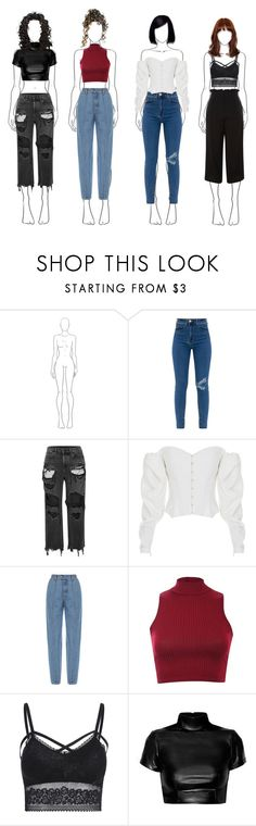 """""""Casual Night Out"""" by claire394 ❤ liked on Polyvore featuring Alexander Wang, ElenaReva, Ksenia Schnaider, Pilot and Topshop"""