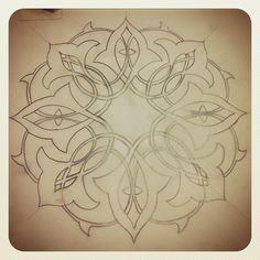 Instagram photo by @jeeamirza via ink361.com Pattern Drawing, Pattern Art, Pattern Design, Turkish Art, Paper Ornaments, Geometric Art, Islamic Art, Geometry, Celtic
