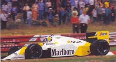 The yellow McLaren. The car ran this special livery at the 1986 Portuguese Grand Prix to promote the title sponsors new product 'Malboro Lights'