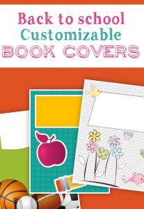 As the kids get ready to head back to school, be sure to download my FREE printable book covers!