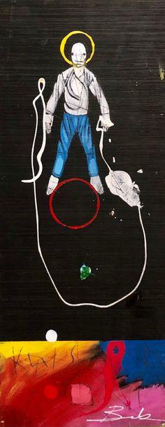 Jump Rope by Michael Banks Michael Banks, Atlanta Art, Outsider Art, Black Art, Contemporary Artists, Painting On Wood, Art Museum, Framed Art, Folk Art