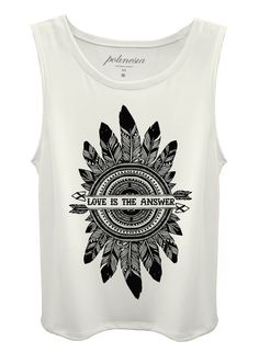 MUSCLE TEE BRANCA LOVE IS THE ANSWER