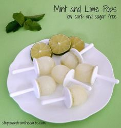 Mint and Lime Pops - low carb and sugar free