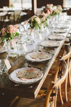 Rustic Ranch Wedding in Muted Pinks and Greens | Featuring SmartyHadAParty.com dinnerware!