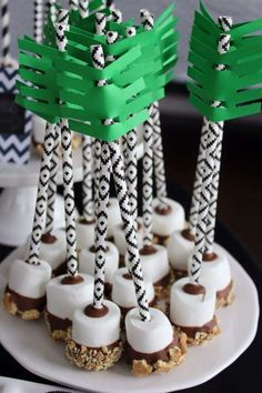 Check out the cool smore's cake pops at this Boho Tribal Birthday Party!! See more party ideas and share yours at CatchMyParty.com #boho #smores #cakepops