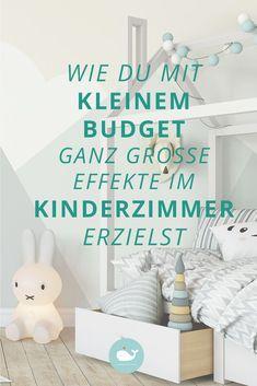 Kleines Budget, große Effekte! Hier finden Sie ganz wunderbare Ideen, um Ihr Kinderzimmer zu verschönern, die nicht viel Geld kosten. #kinderzimmer #verschönerung #bilder #diy #ideen #lowbudget
