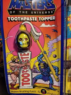 Masters of the Universe toothpaste topper