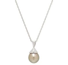 Easy Pay! 4 payments of $29.99 Drape this striking sterling silver black South sea pearl pendant and chain around your neck, and let its eye=catching appeal take care of the rest.