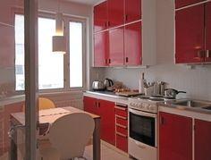 50-luvun keittiö punainen