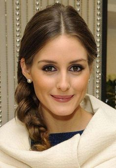 Trenzas: Olivia Palermo  - trenza fina - trenza elegante