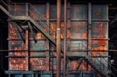 """Sven Fennema is a German photographer passionate about abandoned places that capture to get great images. Creations """"Forgotten Places"""" where nature Abandoned Buildings, Abandoned Places, Sven Fennema, Koi, Urban Decay Photography, Fire Escape, Photo Series, Something Beautiful, Architecture Details"""