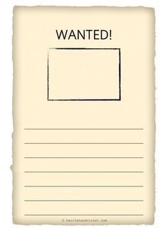 wanted poster template h Early Years (EYFS), KS1, KS2, Primary & Secondary School teaching help, ideas and free teaching resources for the classroom. We love sharing free teaching resources!