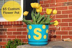 $5 DIY Personalized Flower Pot #vinyl
