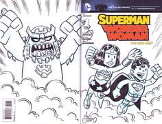 Superman Sketch Cover (front and back) by Chris Giarrusso