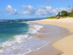 Our favorite beach on Oahu. Few people, all locals, room to play.