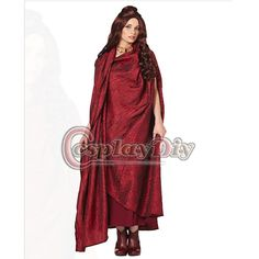 Custom Made Game of Thrones Costume Melisandre Red Dress Cloak Costume Adult Women Halloween Carnival Party Cosplay Costume  //Price: $US $119.00 & FREE Shipping //     #gameofthrones #gameofthronestour #gameofthronesfamily  #starks