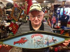 Another great handmade & handpainted pirogue with a Louisiana scene by Mr. Rex!