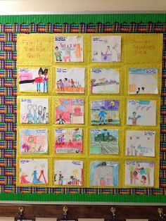 Bishop's Blackboard: A First Grade Blog: Family Traditions Quilt