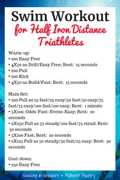 If youre training for a half ironman, youll want to try this triathlon swim workout. Its perfect for those getting ready for a race! Swim Workouts For Triathletes, Fun Workouts, Half Ironman Training Plan, Iron Man, Pool Workout, Swimming Workouts, Crossfit, Swim Training, Dog Training