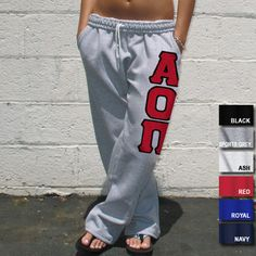 Alpha Omicron Pi Sorority Sweatpants $34.99