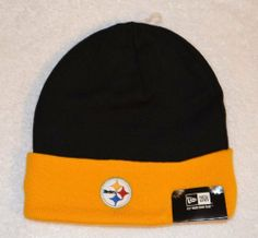 Pittsburgh Steelers 2-tone New Era Beanie Hat - NFL Cuffed Winter Knit  Toque Cap ffa2494d7