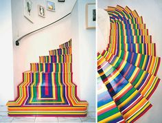 Bright and beautiful painted stairs