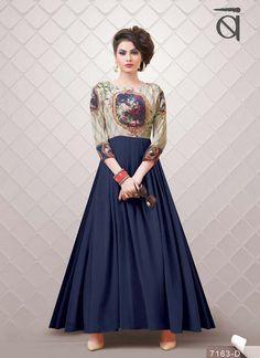 Neavy Blue Color Exclusive Printed Suit, 7 Days Easy Return, Buy Designer Salwar Kameez, Anarkali Suit ,Salwar Suit etc....