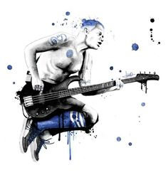 Blue bassist Flea