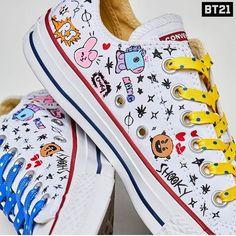 I want this shoes Cute Shoes, Me Too Shoes, Bts Clothing, Converse, Line Friends, Kpop Merch, Bts Chibi, Painted Shoes, Bts Lockscreen