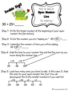 Open Number Lines and more math fun