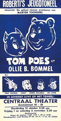 """""""Tom Poes en Ollie B. Bommel"""" vintage poster by Marten Toonder (1912-2005), ca. 1950"""