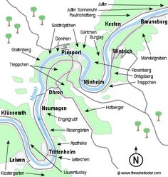 Map of the Mosel Vineyards ©www.thewinedoctor.com