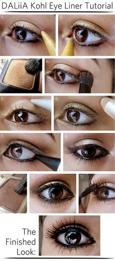 DALiiA Kohl Eye Liner Tutorial