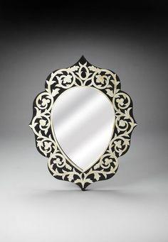 Espejos Bright Espejo De Pared Oro Blanco Ovalado 45x38 Barroca Antiguo Reproducción Vintage