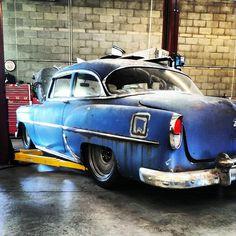 "1954 Chevrolet With 20"" Smoothies (Robert David) (LS Swap) (Accu Air) (Patina) (Detroit Steel Wheels)"