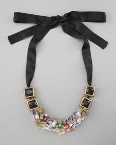 Marni  Floral Paillette Necklace