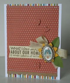 Card made with the #epiphanycrafts Shape Studio Tool Oval and metal settings. www.epiphanycrafts.com  #bellablvd #cards