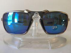 New OAKLEY BADMAN SAPPHIRE IRIDIUM POLARIZED Sunglasses OO6020-04 PLASMA   fashion  clothing   6aa21d06fd