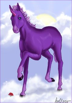 unicorn pictures | Purple Unicorn by ~hollowzero on deviantART