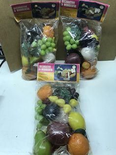 Vintage Decorative Artificial Plastic Fruit Fake Lot of 3 Unopened Bags     eBay