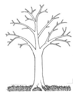 Fall Tree Clip Art | This black and white image, Tree Bare, was donated by the artist ...
