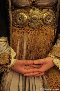 Naousa, Imathia regional unit of Macedonia, Greece Greek Traditional Dress, Traditional Outfits, Historical Costume, Historical Clothing, Arabian Costume, Ethnic Outfits, Greek Art, Greek Clothing, Folk Costume