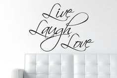 Great Live Laugh Love Decal Wall Decal Wall Quote / Wall By DecalLab