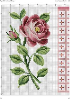 This Pin was discovered by Мил Cross Stitch Boards, Cross Stitch Rose, Cross Stitch Flowers, Hand Embroidery Designs, Embroidery Patterns, Cross Stitch Designs, Cross Stitch Patterns, Cross Stitching, Cross Stitch Embroidery